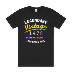 Legendary Vintage - Mens Block T shirt Thumbnail