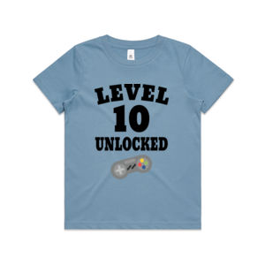 Level 10 Unlocked - Kids Youth T shirt Thumbnail