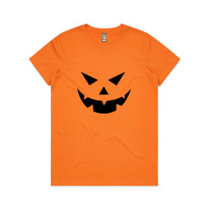 Halloween Jack O Lantern - Womens Maple Tee Thumbnail