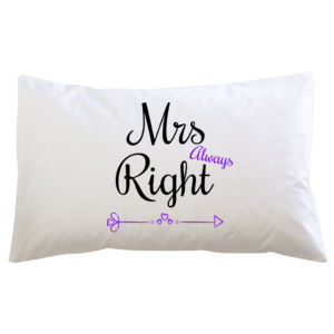 Mrs Always Right - Pillowcase  2 Thumbnail