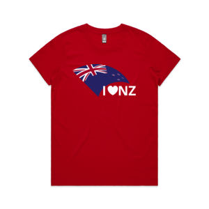 I Love NZ - Womens Maple Tee Thumbnail