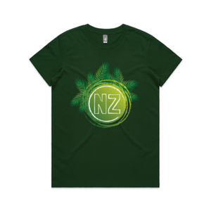 NZ Fern Kiwiana - Womens Maple Tee Thumbnail