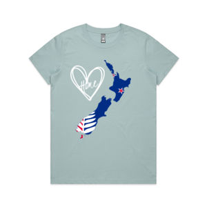 New Zealand Is Home - Womens Maple Tee Thumbnail