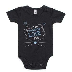 All The Bunnies Love Me - Customised Onesie - Mini-Me One-Piece Thumbnail