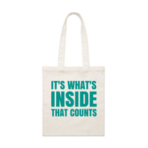 It's What's Inside That Counts - Custom Tote Bag - Parcel Tote 2 Thumbnail
