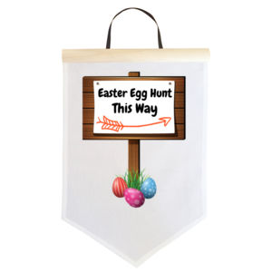 Personalised Custom Easter Egg Hunting Sign - Easter Egg Sign - Large Wall Banner (A3) Thumbnail