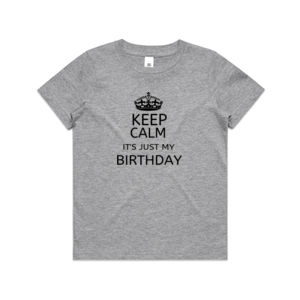 Keep Calm Birthday - Kids Youth T shirt Thumbnail