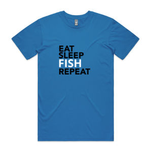 Eat Sleep Fish Repeat - Mens Staple T shirt Thumbnail