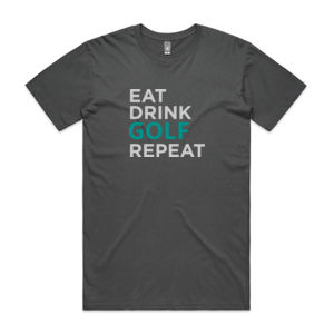 Eat Sleep Golf Repeat - Mens Staple T shirt Thumbnail