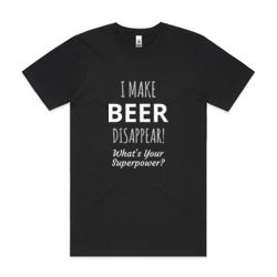 I Make Beer Disappear - Mens Block T shirt Thumbnail