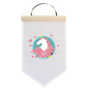 Personalised Unicorn - Small Banner (A4) Thumbnail