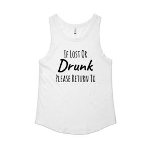 If Lost Or Drunk Please Return To Friend - Womens Sunday Singlet Thumbnail