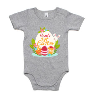 First Name First Easter - Custom Kids Easter Onsie - Mini-Me One-Piece Thumbnail