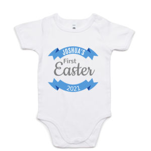 Personalised First Easter Onesie - Custom T Shirt - Mini-Me One-Piece Thumbnail