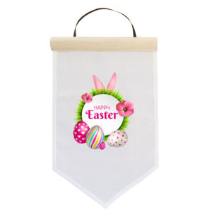 Happy Easter - Custom Easter Banner -  Medium Wall Banner (A4) Thumbnail