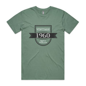 Vintage Aged To Perfection - Personalised Custom Birthday T Shirt - Mens Staple T shirt Thumbnail