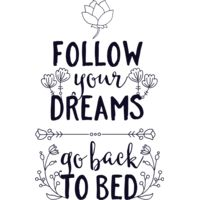 Follow Your Dreams Go Back To Bed Thumbnail